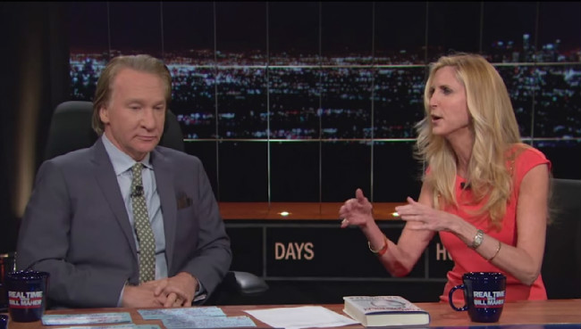 Hey, Bill Maher, Please Stop Booking Your Buddy Ann Coulter As A Guest On 'Real Time'