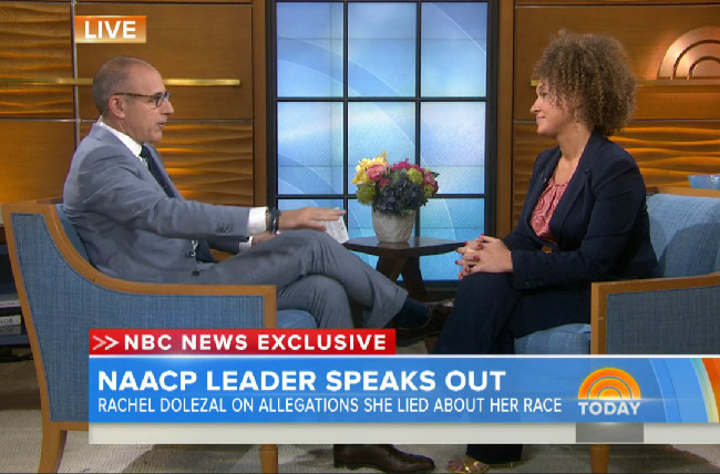 NBC's Matt Lauer Handles Fake Black Lady Rachel Dolezal With Kid Gloves In Interview