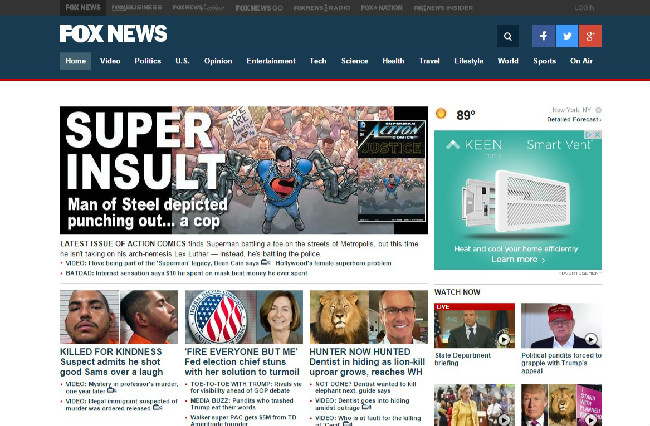 fox news website screengrabedited
