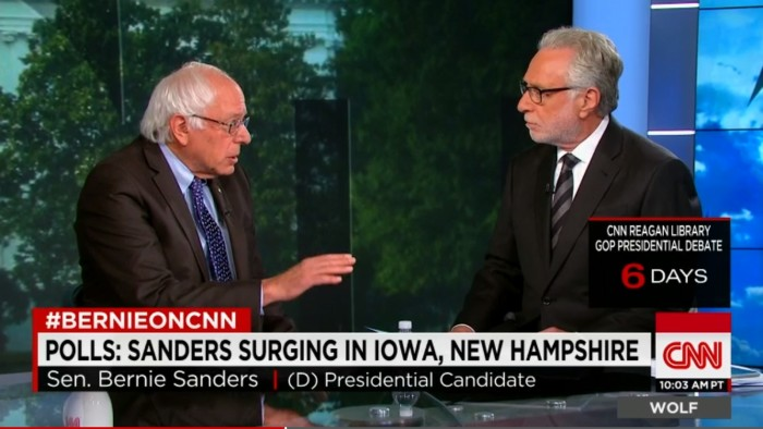 Bernie Sanders Chastises CNN And Rest Of Media For Not Focusing On Serious Issues