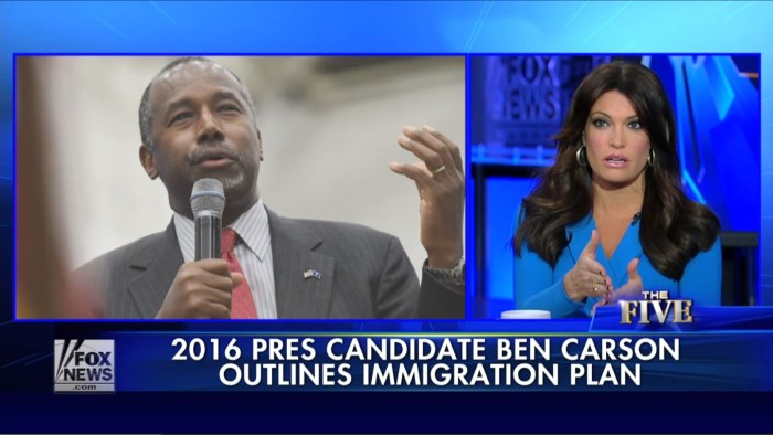"""Fox's Kimberly Guilfoyle: I Like Ben Carson Because He Views Immigration As """"A Tumor Or A Disease"""""""