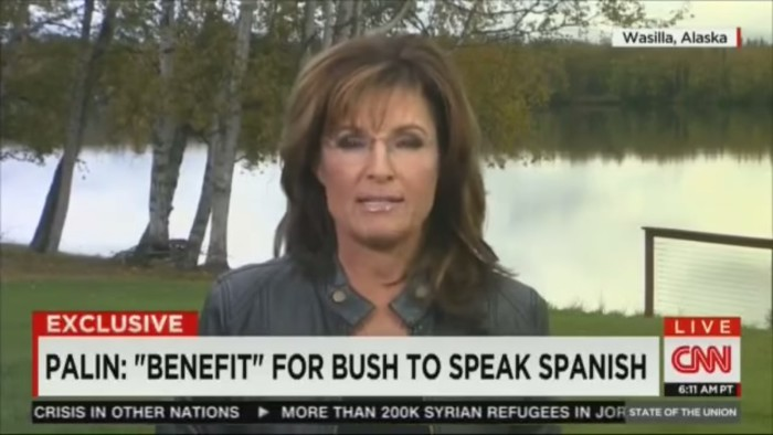 "Sarah Palin To Latino Americans: ""When You're Here, Let's Speak American"""