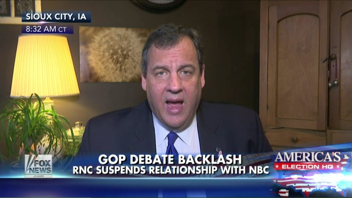 Chris Christie, While Whining About CNBC Debate, Says Republicans Need To Stop Complaining