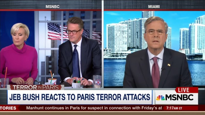In First Broadcast Since Paris Attack, 'Morning Joe' Invites Only Republicans On To Talk About It