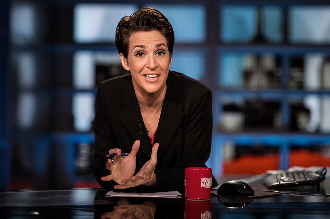 Latest Mueller News Boosts Maddow to Best Ratings Since Barr Memo's Release