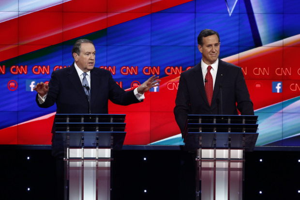 Why Is Trump Inviting Low-Polling Losers Huckabee And Santorum To His Amazing Trumpathon?