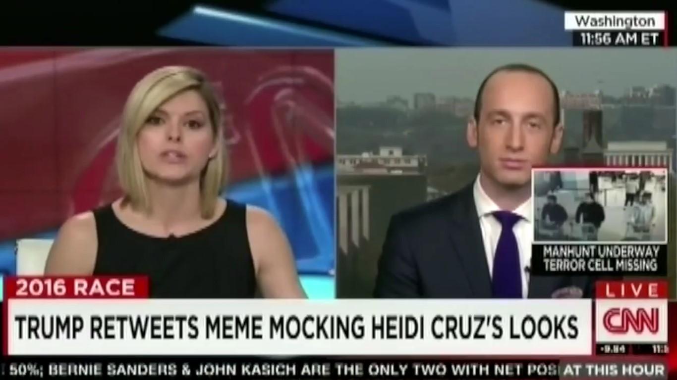 CNN Host Goes To Town On Trump Flunky For Endorsing Trump's Heidi Cruz Tweets