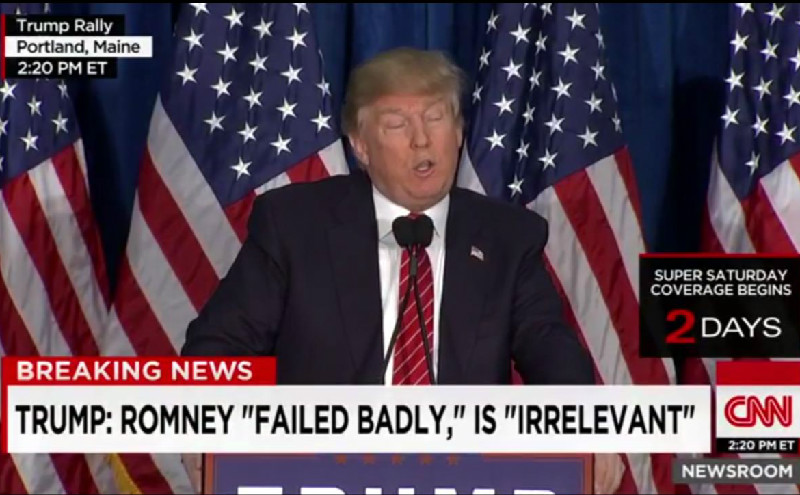 Trump Claims Mitt Romney Would've Given Him A Blow Job In 2012 For Endorsement