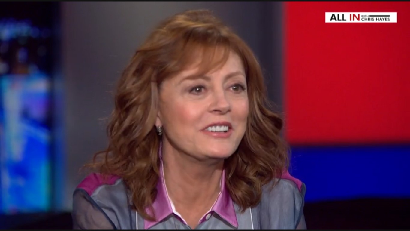 "Susan Sarandon: ""Some People Feel Donald Trump Will Bring The Revolution Immediately"""