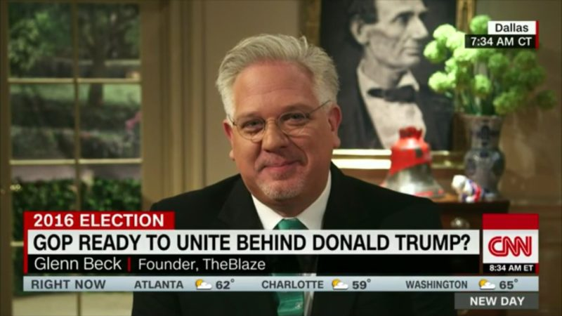 Even Crazy Ass Glenn Beck Thinks Trump's Vince Foster Conspiracy Theory Is Nuts