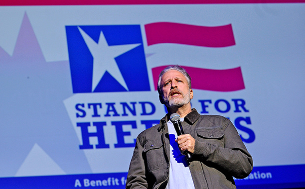 """Jon Stewart On Trump: """"Are You Eligible To Run If You Are A Man-Baby, Or A Baby-Man?"""""""