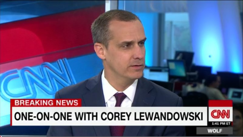CNN Refuses To Fire Corey Lewandowski Despite Him Still Being On Trump's Payroll