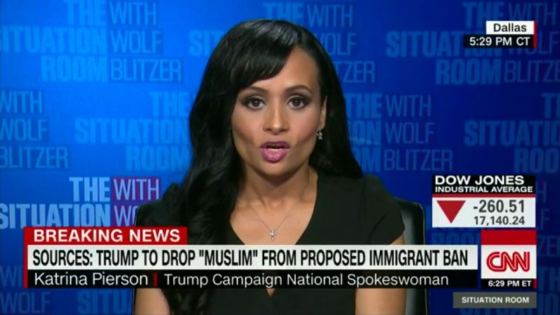 Katrina Pierson Tries To Discuss Trump's Muslim Ban, Once Again Reveals She's A Hot Mess