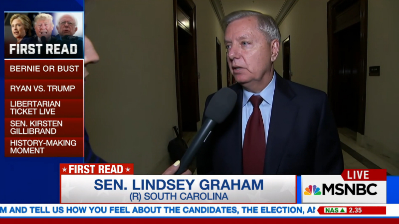 Trump's Remarks About Mexican-American Judge Push Lindsey Graham Over The Edge