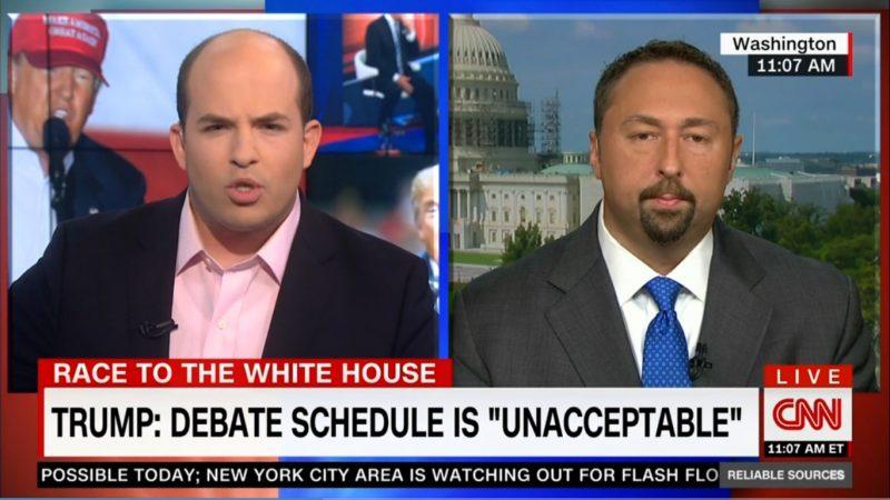 """Campaign Spokesman Defends Trump's Lie About NFL Debate Letter, Calls It """"Semantics"""""""