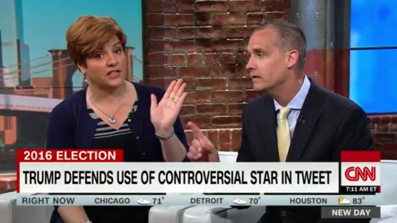 CNN's Loyal Trumpkins Come To Daddy's Defense Over Anti-Semitic Star Of David Tweet