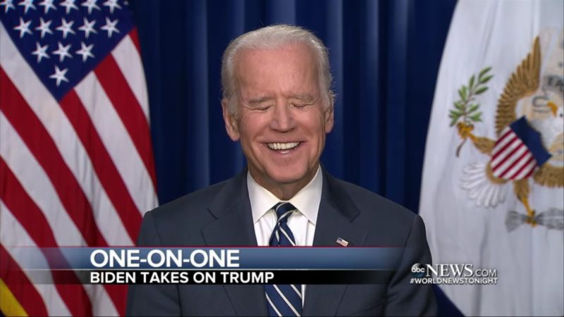 "Joe Biden Literally LOLs At Trump Declaring Himself The ""Law And Order Candidate"""