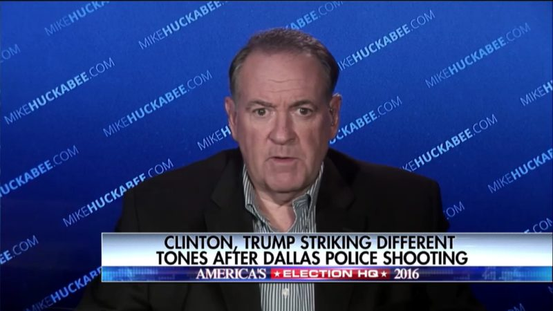 Mike Huckabee: Hey Guys, Why Ain't You Saying 'Male Lives Matter' Over Police Shootings?