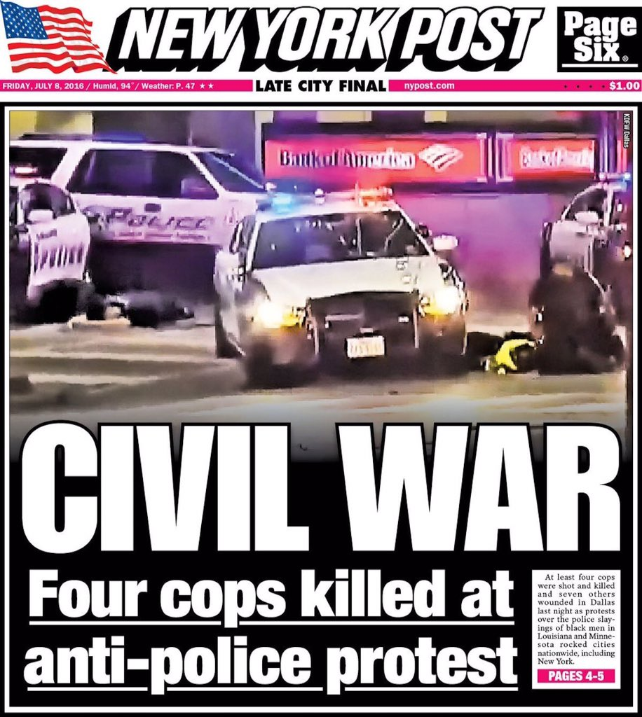 New York Post Very Responsibly Claims America Is Now In The Middle Of A Race War