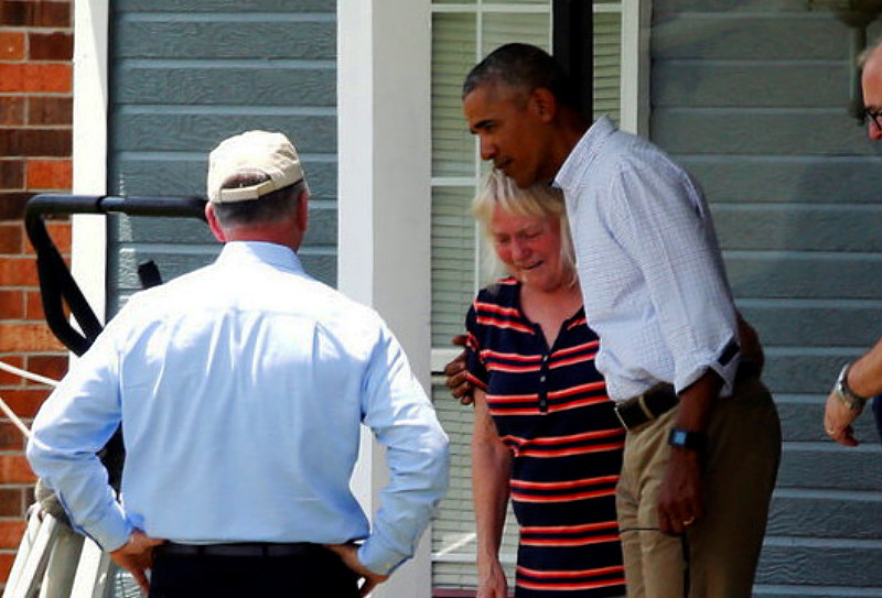 Obama To Louisiana Flood Victims: This Is Not A 'Photo Op Issue'