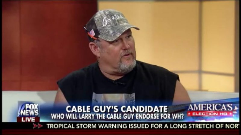 "Political Expert Larry The Cable Guy Tells Fox News ""Hillary Will Be The End Of The Country"""