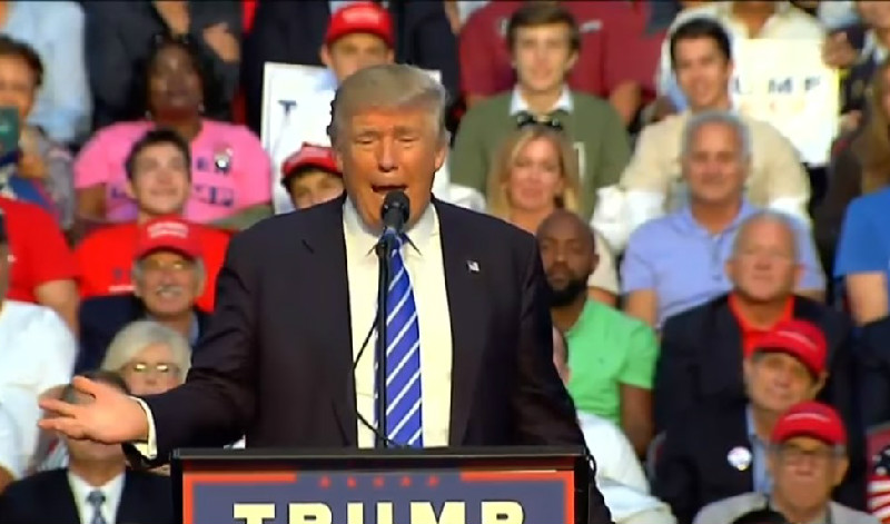 Trump Slams Hillary Over Mateen Rally Appearance With Mark Foley Sitting Behind Him