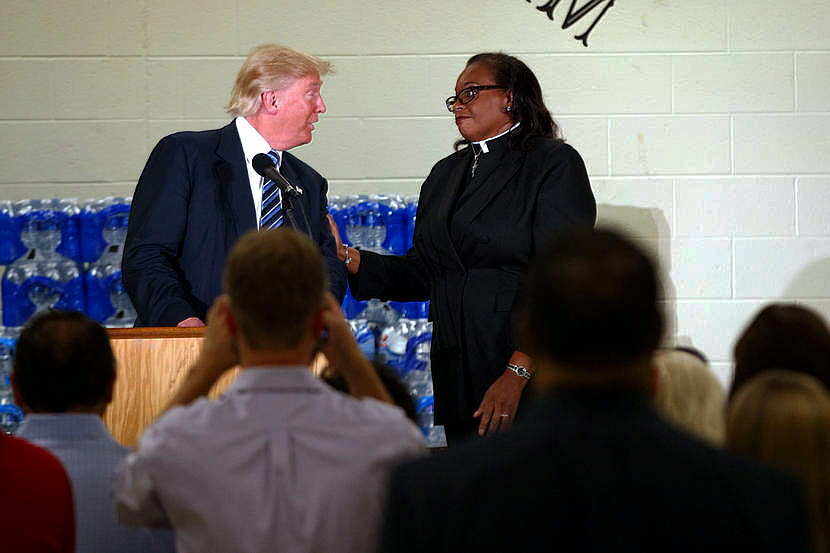 Trump Whines About Black Female Pastor Who Stopped His Hillary Rant