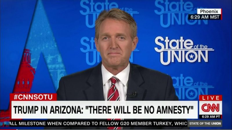 GOP Senator Jeff Flake Won't Vote For Trump, Sees Hillary Clinton Winning Arizona