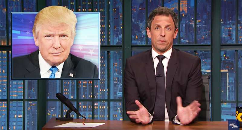 Seth Meyers Slams Trump's Attempt To Look Cool: He'll Be Donye Worst