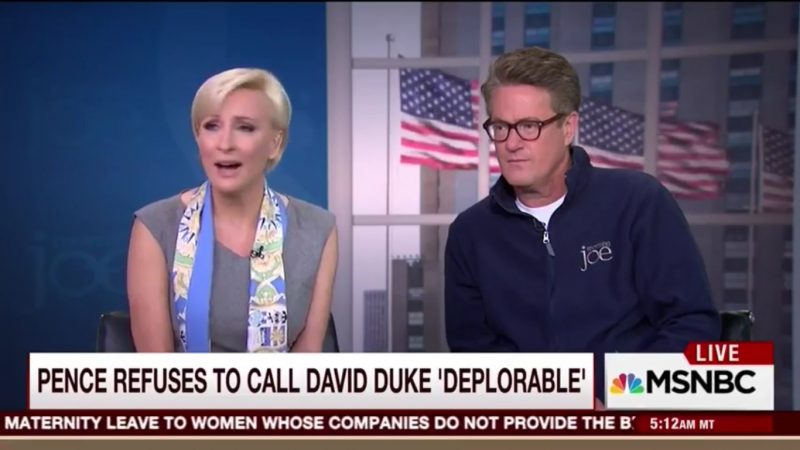 Mika Brzezinski Coins Term 'Pencing' For Pence's Inability To Call David Duke Deplorable