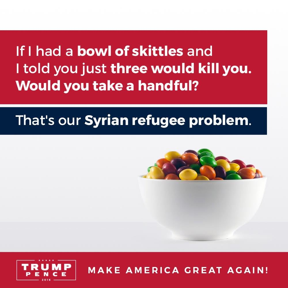 Son Of GOP Presidential Nominee Directly Compares Syrian Refugees To Skittles