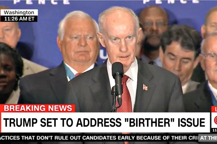 Trump Brought A Prominent Birther To Press Conference Renouncing His Birtherism