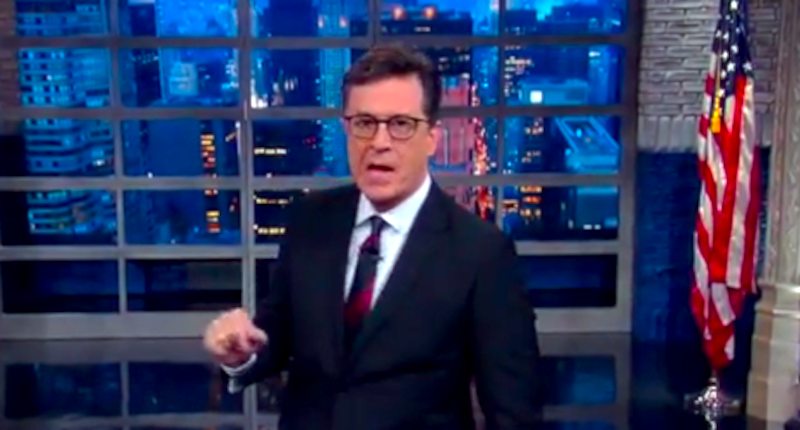 Stephen Colbert: Donald Trump Sounded Like 'The Coked-Up Best Man' At A Wedding
