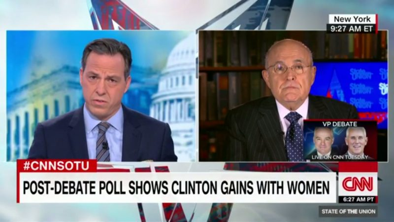 """It's Indefensible!"" Jake Tapper Has Just About Had Enough Of Rudy Giuliani's Idiocy"