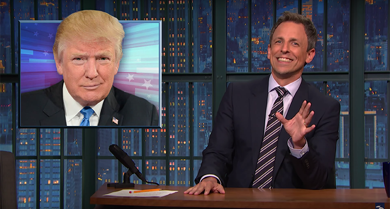 Seth Meyers: Trump's Rallies Are Like Episodes Of The Maury Povich Show