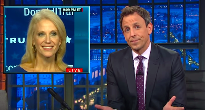Seth Meyers Mocks Trump's Paranoid Campaign: He'll Give A Victory Speech Even If He Loses