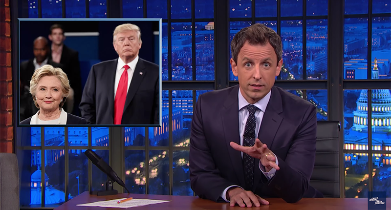 Seth Meyers: Donald Trump Is A Blowhard With A 7th Grade Vocabulary