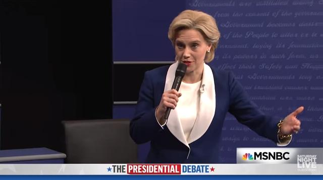 SNL's 'Worst Ever Presidential Debate' Features Moderators Taking Shots And Trump Playing Jaws