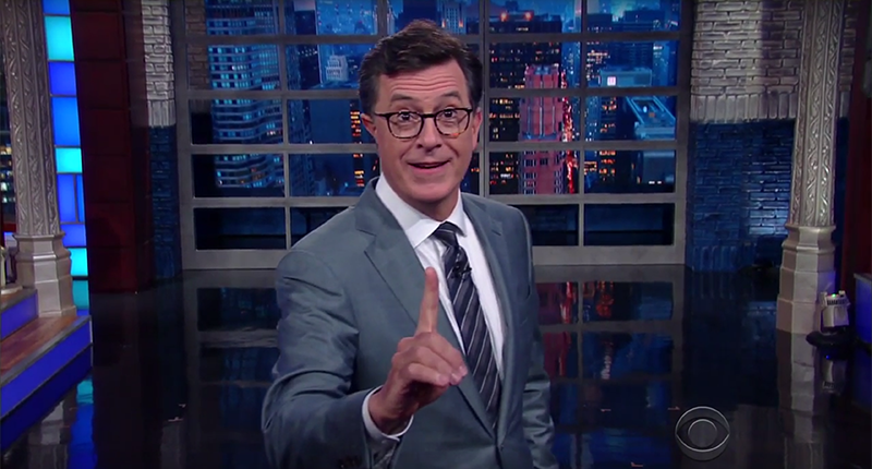 Stephen Colbert Refuses To Bow Down To 'Kim Jong Trump': That's What A Pussy Would Do