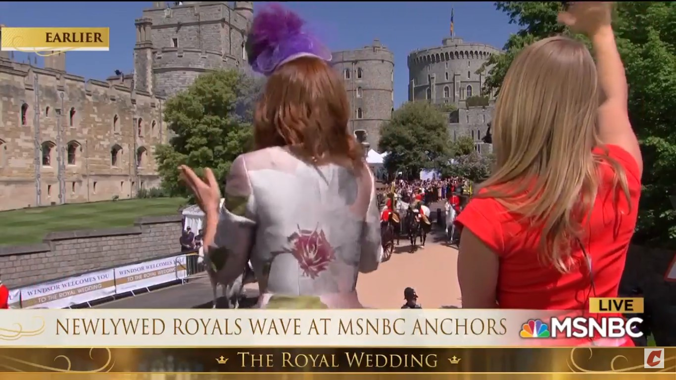 Watch MSNBC's Stephanie Ruhle Wiggle With Joy As Royal Couple's Carriage Passes By