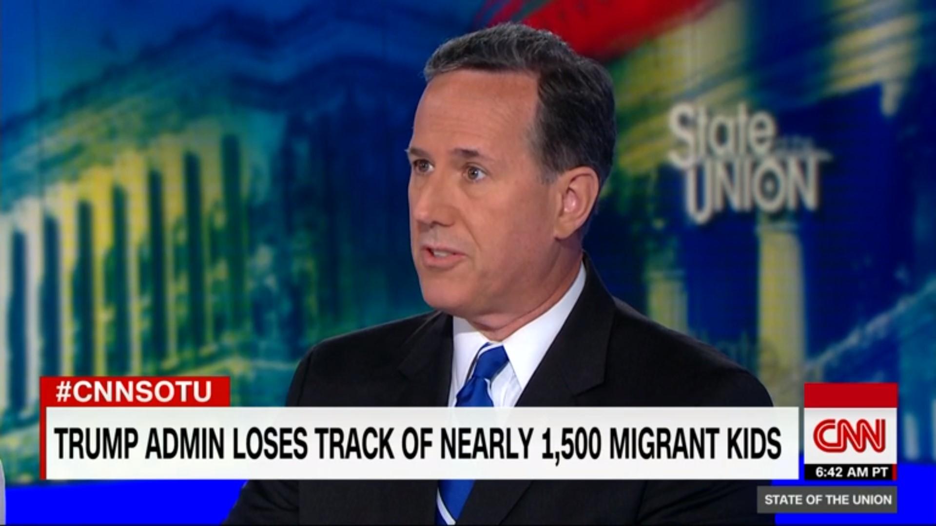 Liberals Tear Into Rick Santorum After He Defends Trump Admin For Losing 1,500 Migrant Children