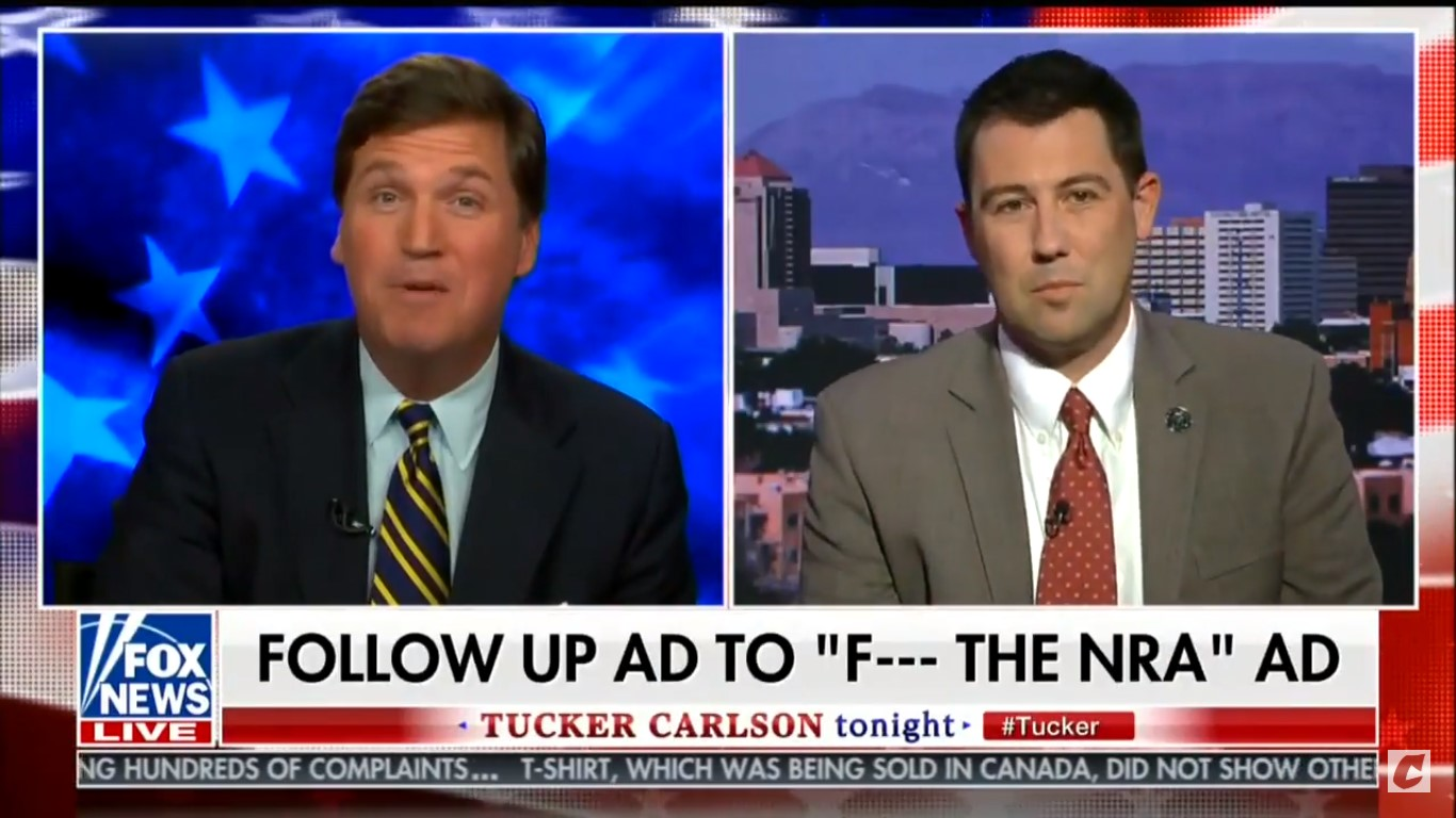 Watch Tucker Carlson Melt Down Against Guest Who Said 'F*ck The NRA': 'Interview Over!'