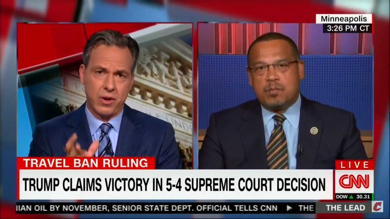 Keith Ellison And Jake Tapper Go At It Over Farrakhan: 'You Are Trying To Put Me On The Spot'