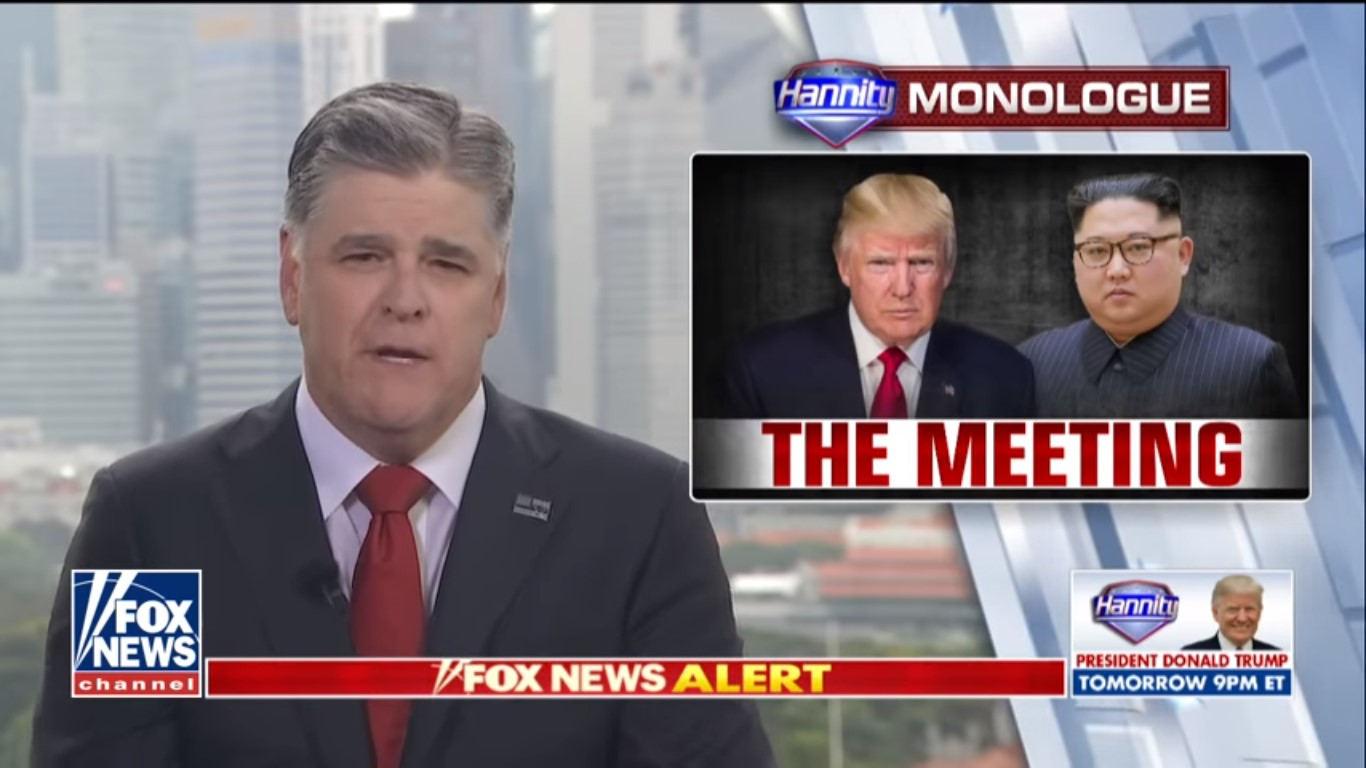 Fox News Dominates Cable News Coverage Of Trump-Kim Summit, Hannity Draws 5.9 Million