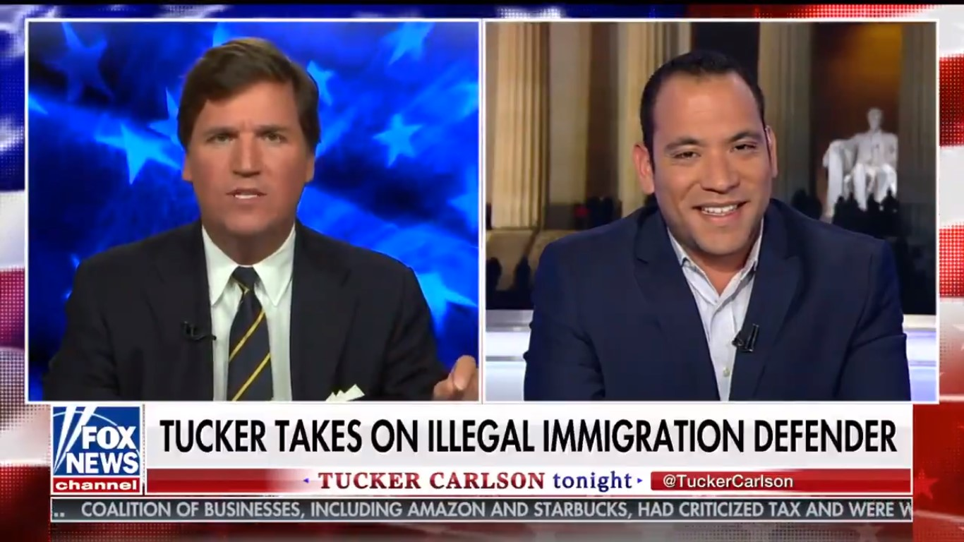 Tucker Carlson Calls Latino Guest 'Stupid Person' Who Knows 'Nothing' Before Cutting Off Interview