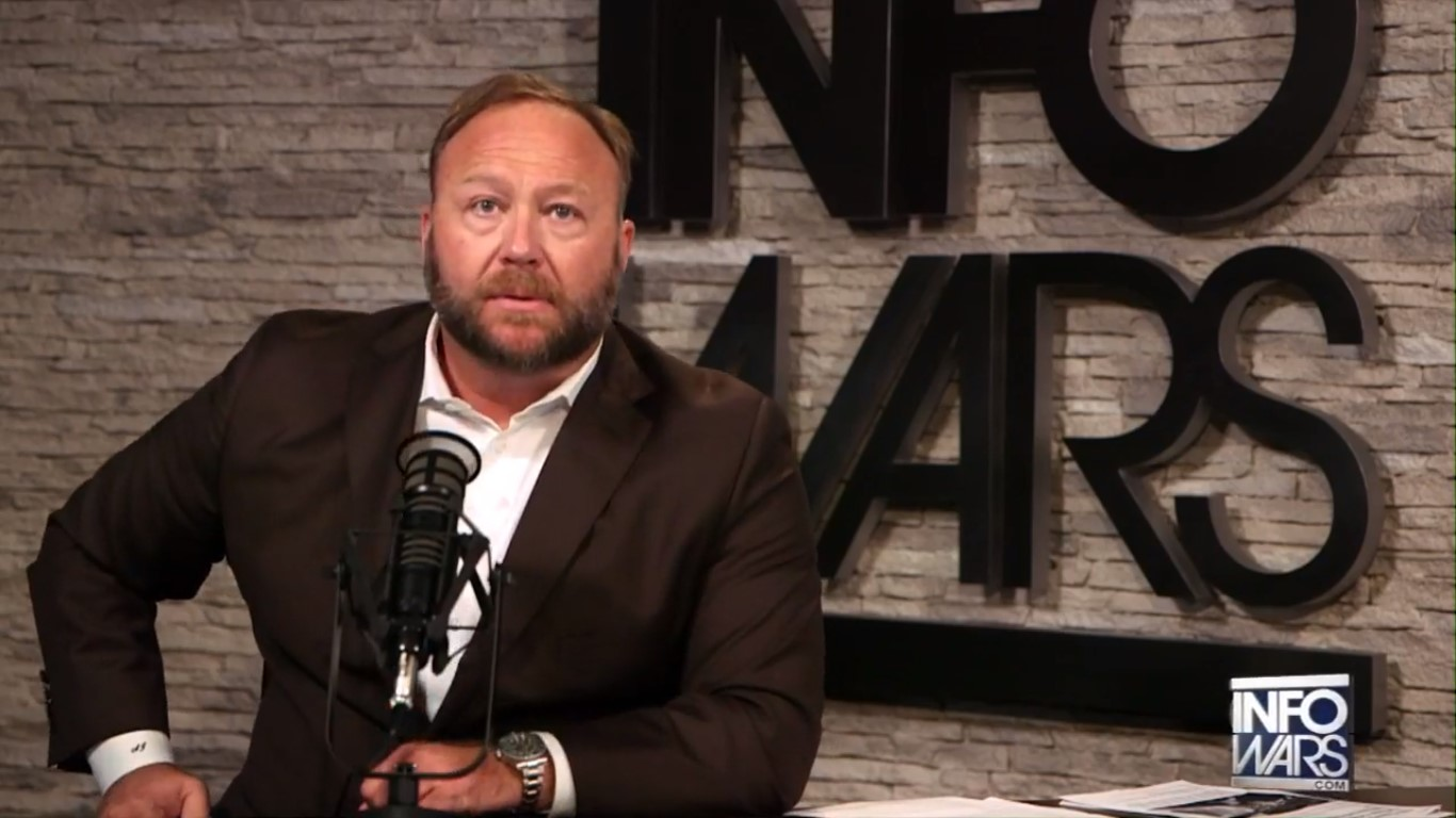 Following Facebook and Apple Bans, YouTube Takes Down Alex Jones' Page