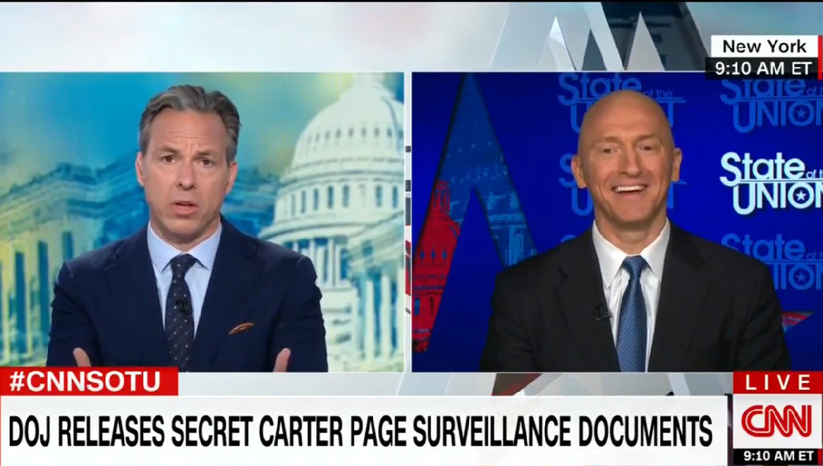 Carter Page Dodges When Jake Tapper Asks If He Established Relationships With Russian Officials