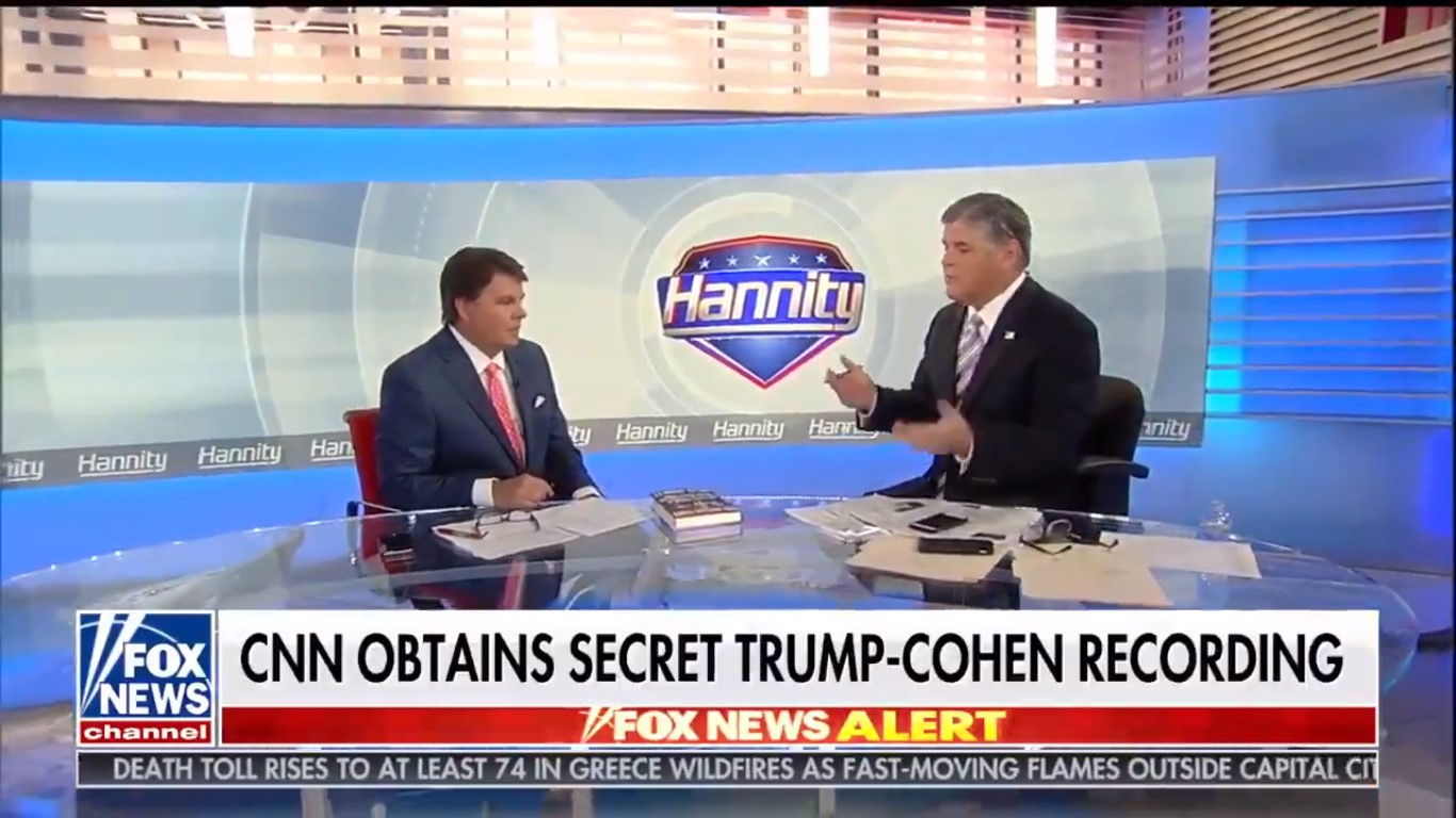 Hannity Completely Downplays 'Muffled' Cohen-Trump Tape: 'I See A Dud'