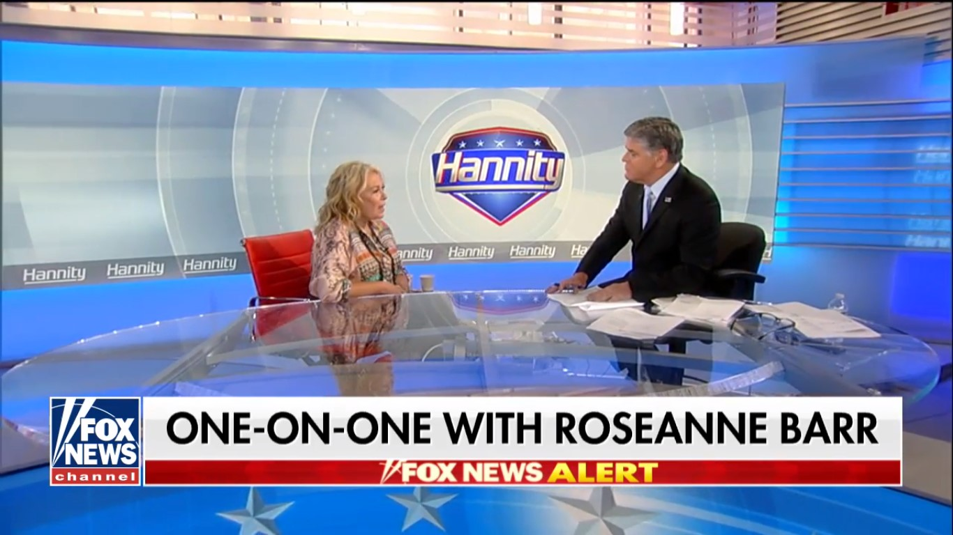 Hannity's Roseanne Barr Interview Leads Cable News Thursday, Draws 3.3 Million Viewers