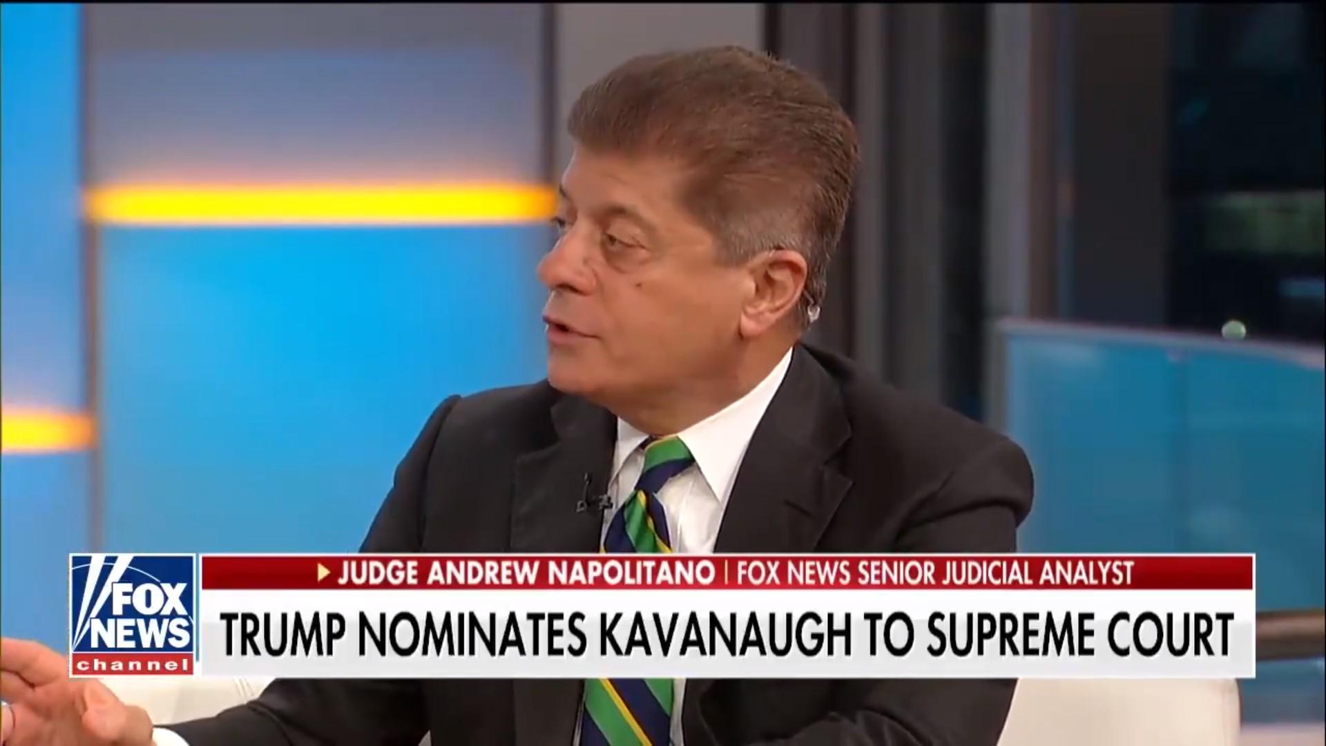 Fox's Judge Napolitano Rails Against Trump's SCOTUS Pick: 'The Swamp' Wanted Kavanaugh